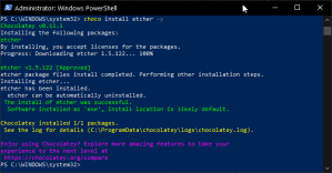 Installing Etcher with Choco