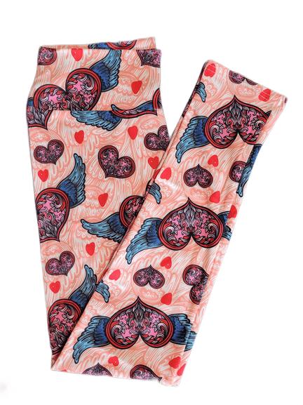 Splendid Cupids Wings Full Length Yoga Band Printed Leggings
