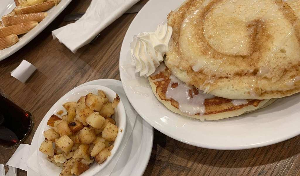 Frizzles Chicken Farmhouse French Toast Cinnamon Roll Pancakes