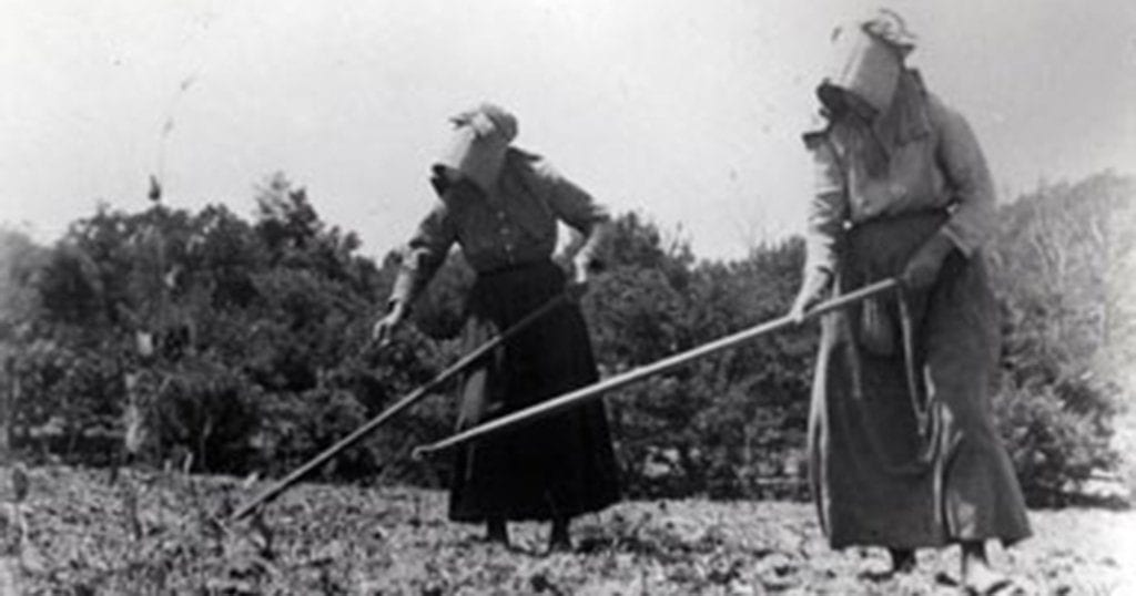 The Walker sisters did all of the farm and housework themselves for more than 40 years. (photo courtesy of nps.gov)