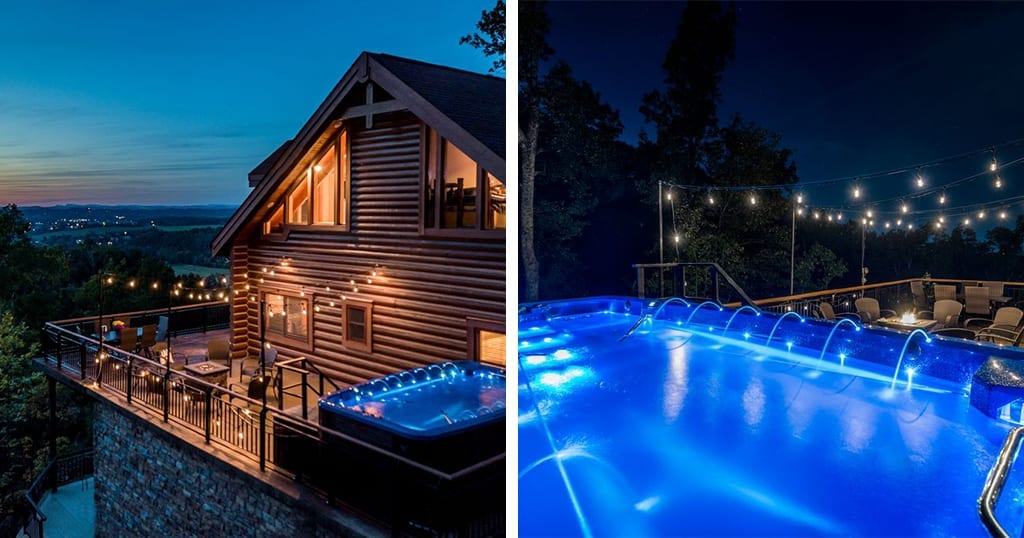 Our number one pick features a private pool, theater and arcade (photos courtesy of VRBO)