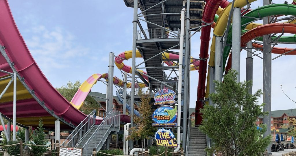 A slide at Wilderness at the Smokies