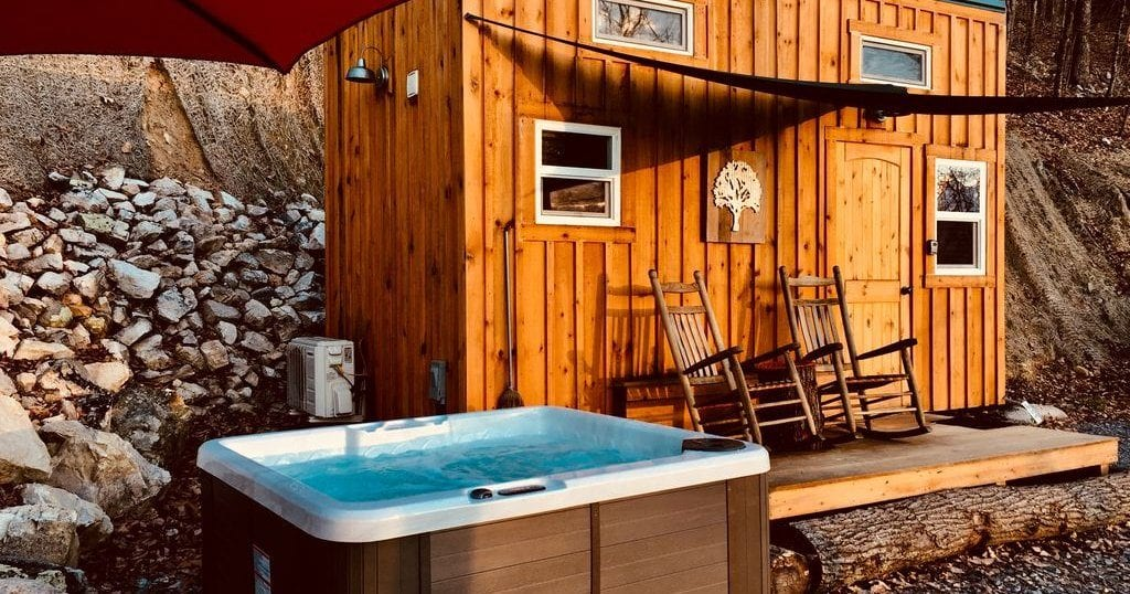 """This """"Tiny Cabin"""" is located in Newport, Tenn and sleeps up to three people (photo courtesy of VRBO)"""