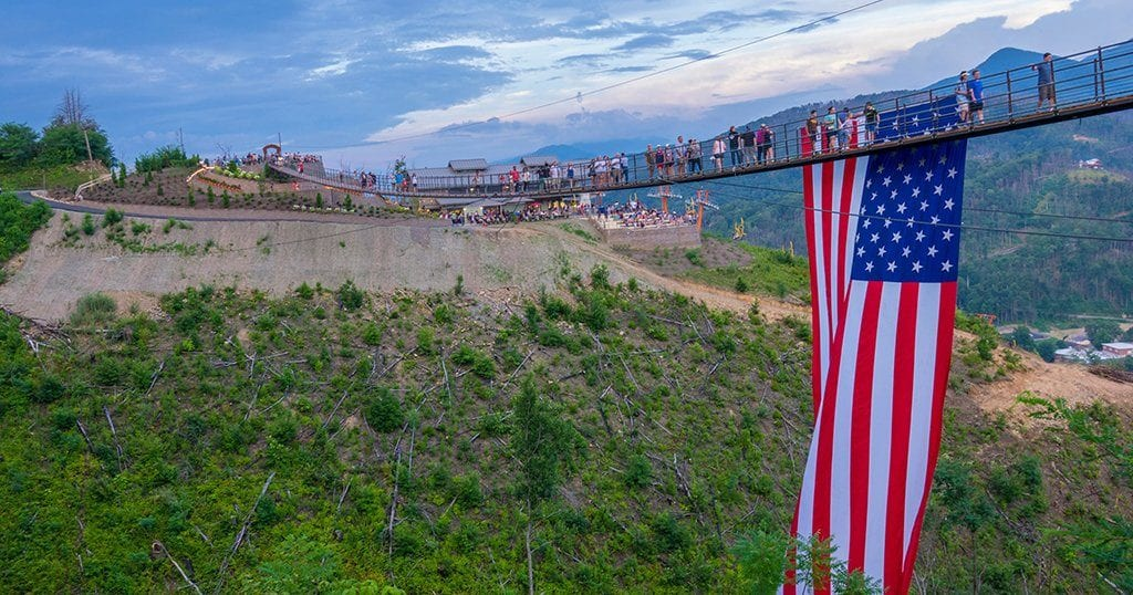 SkyLift Park's SkyBridge July 4 celebration is likely to sell out - if you plan on attending we suggest purchasing your tickets early. (photo courtesy of SkyLift Park)