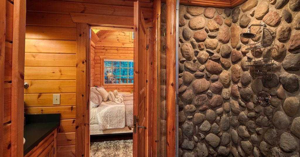 This 'smart cabin' even features a built in Sauna room (photo courtesy of VRBO)