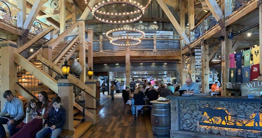 The interior of Five Oaks Farm Kitchen features an elevated yet rustic vibe (photo by Morgan Overholt/TheSmokies.com)