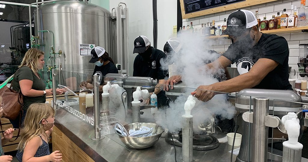 Ice cream is literally made in seconds right in front of the customer at Buzzed Bull Creamery (photo by Morgan Overholt/TheSmokies.com)