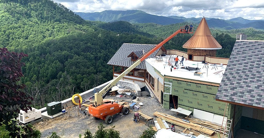 the all-new Smokehouse Restaurant is nearly complete and is officially set to open in September (photo by Morgan Overholt/TheSmokies.com)