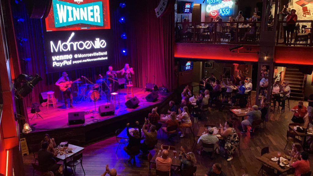 Local favorite Monroeville from Gatlinburg won the inaugural Battle of the Bands event on Aug 19 (photo courtesy of Ole Red)