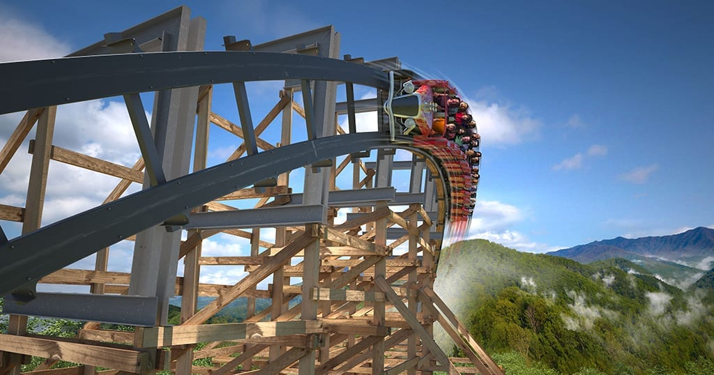 A significant portion of the track has been wrapped in metal which will allow for a smoother, more reliable ride (media photo courtesy of Dollywood)