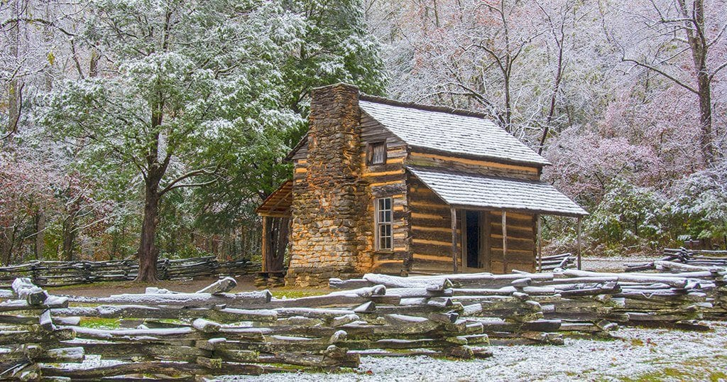John Oliver's cabin in the Great Smoky Mountains National Park (stock photo)