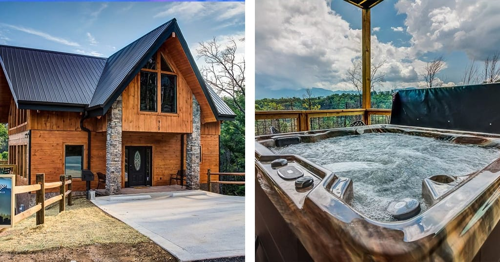 Guests who stay at this lodge will enjoy incredible views and free tickets to popular local attractions (photos courtesy of Majestic View Lodge/VRBO)
