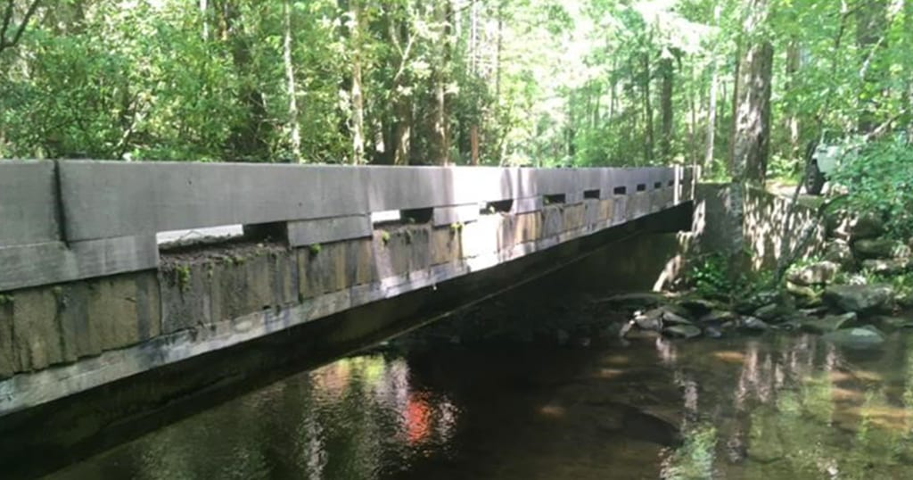 Forge Creek Road Bridge in the Great Smoky Mountains National Park