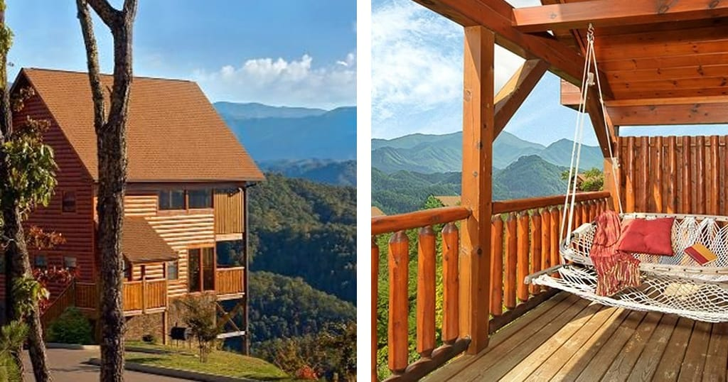 Mountain Splendor, No. 6 on our list, offers some of the best unobstructed views of any cabin in the Smokies (photo courtesy of Mountain Splendor/VRBO)