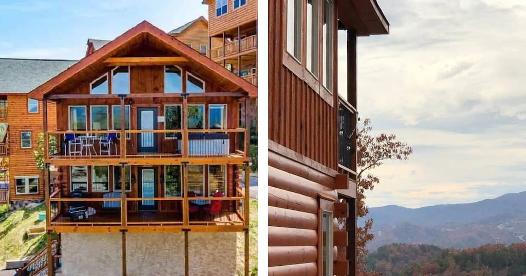Sky Top Lodge features specttacular views, access to resort amenities and attraction coupons (photos courtesy of Sky Top Lodge/VRBO)