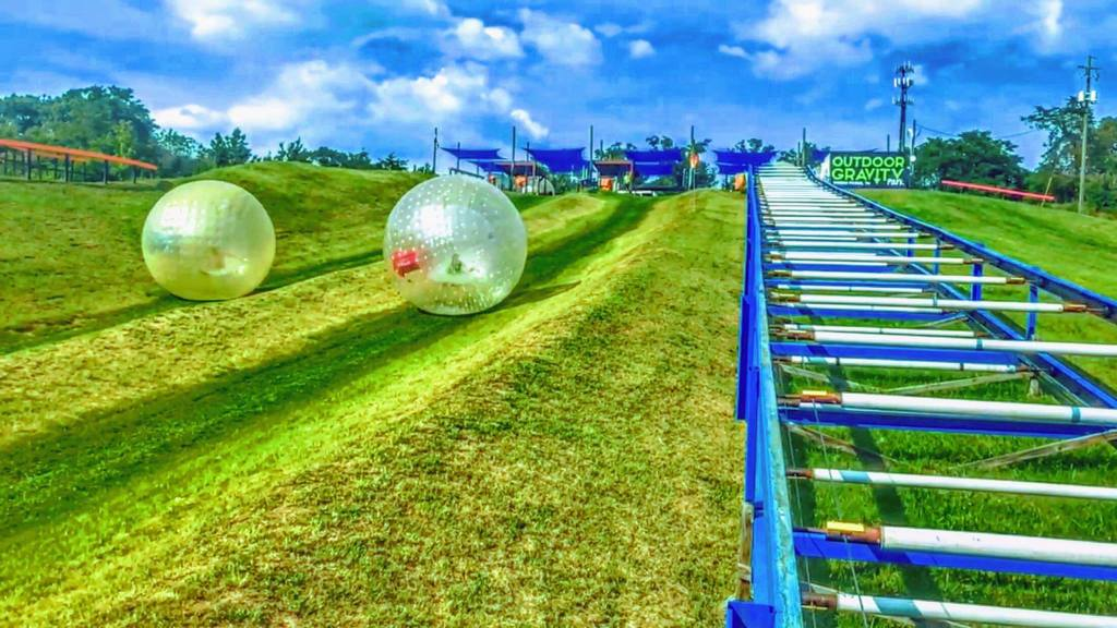 Outdoor Gravity Adventure Park is one of only a handful of zorbing locations in the United States (photo provided with permission by Outdoor Gravity Adventure Park)
