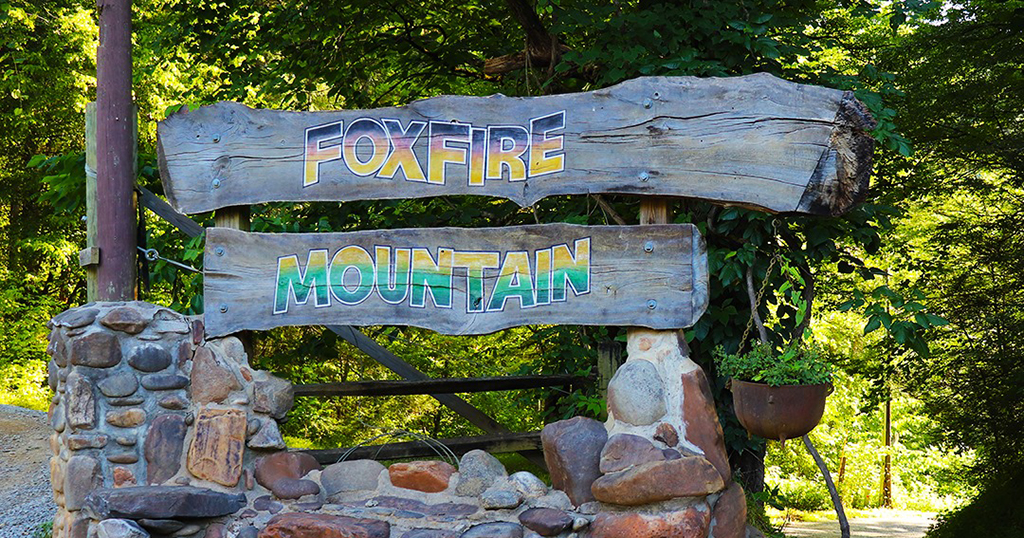 A sign at Foxfire Mountain