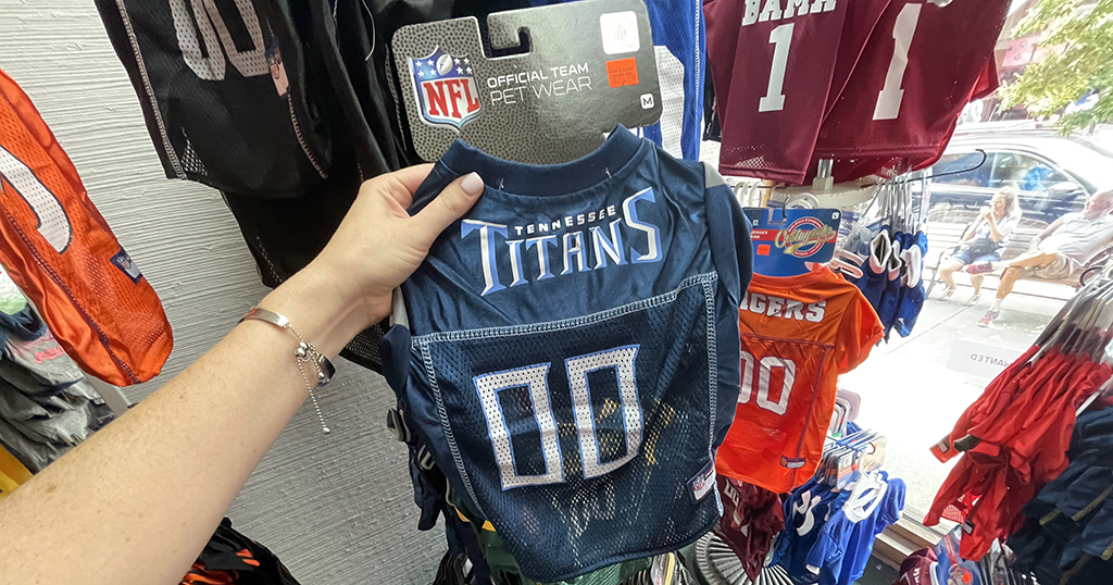 Paws and Claws's NFL jerseys