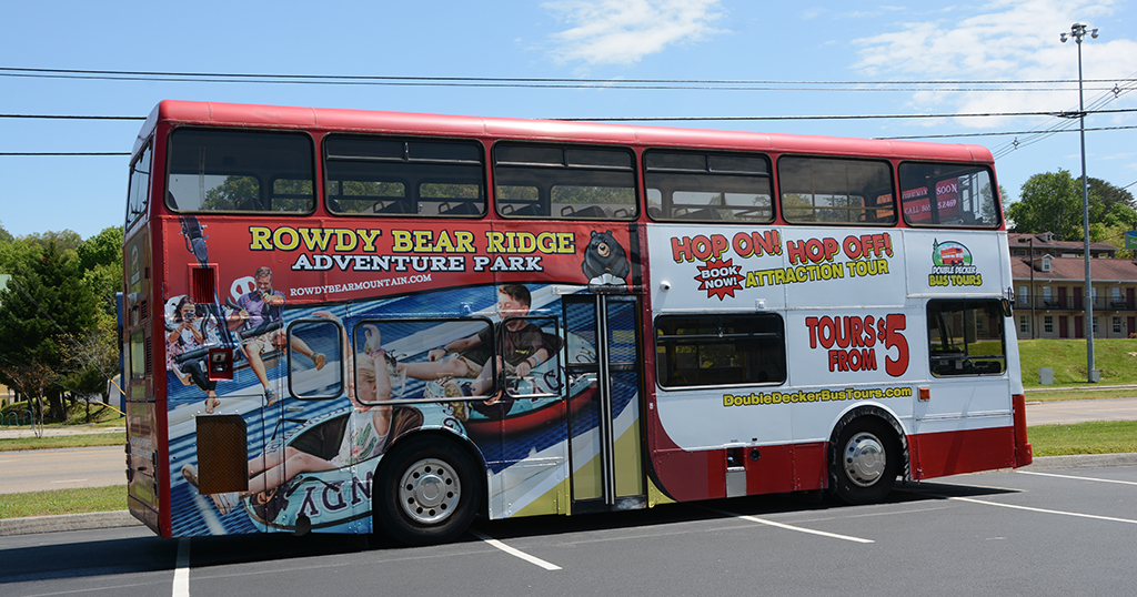 Double decker bus tours in PIgeon Forge