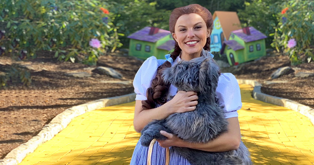 Dorothy on the Yellow Brick Road at Land of Oz