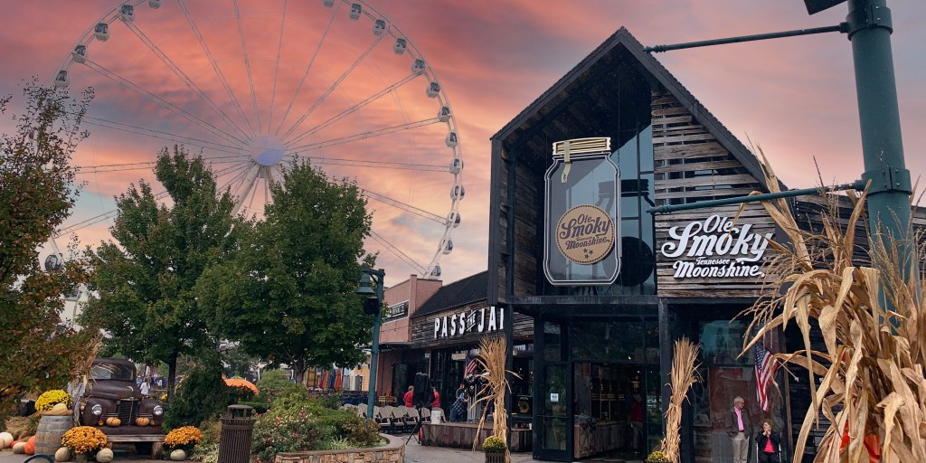 The Island in Pigeon Forge in the fall