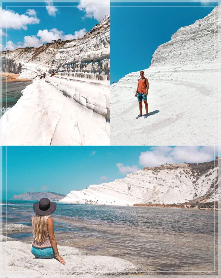The white marl cliff of Scala dei Turchi on Sicily's southern coast