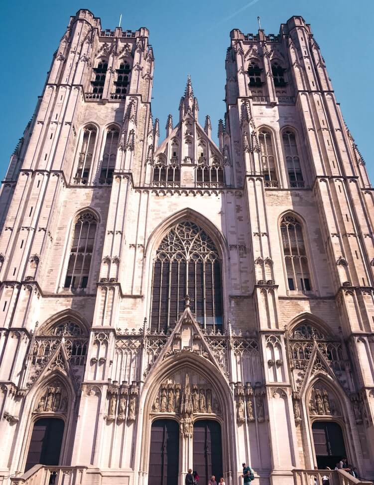 One of the most beautiful churches in Brussels - the Cathedral of St. Michael and St. Gudula