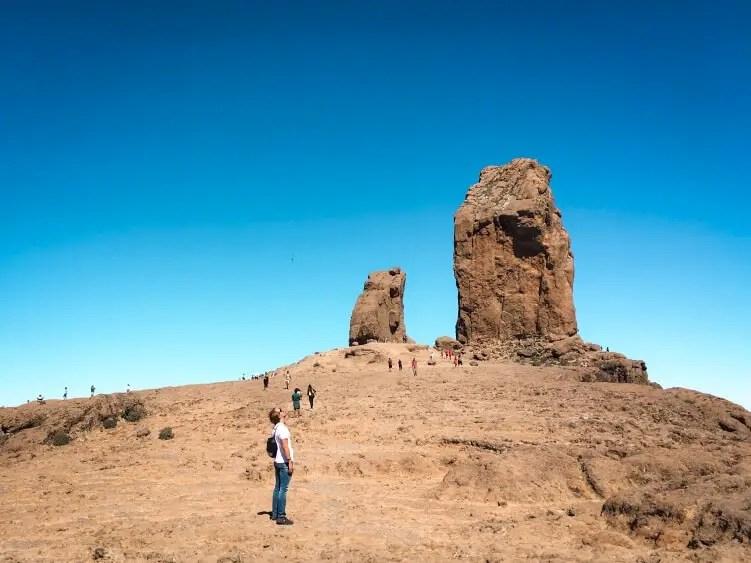 Roque Nublo volcanic rock formation in  Gran Canaria, Canary Islands