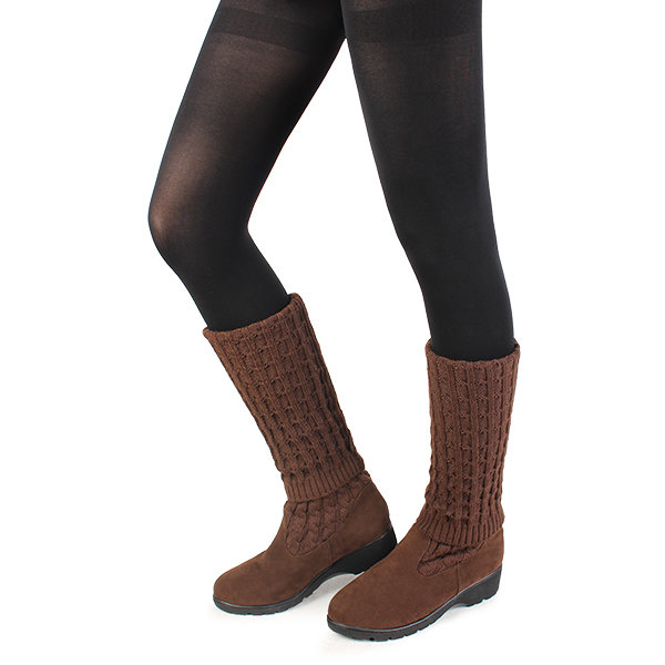 Wool Knitting Knee High Boots Online