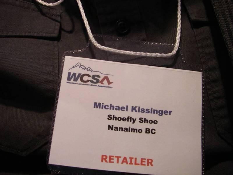 Western Canadian Shoe Association's Footwear Buying Market badge.