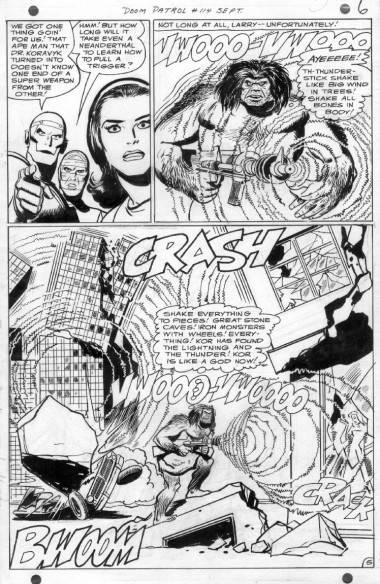 Bruno Premiani art from Doom Patrol 114.