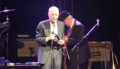 Leonard Cohen at Coachella Valley Music and Arts Festival, 2009. Rebecca Ritters photo