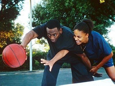 Omar Epps and Sanaa Lathan photo Love and Basketball movie
