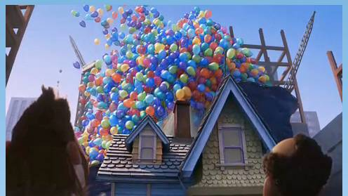 Scene from the Pixar film Up
