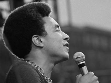 Smokey Robinson onstage in 1972.