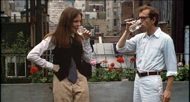 Diane Keaton and Woody Allen in Annie Hall movie image