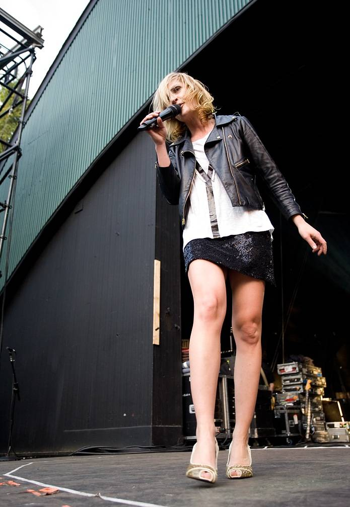 Emily Haines with Metric at Malkin Bowl, Vancouver, June 12 2010. Jason Statler photo