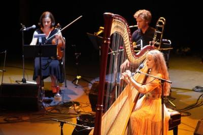 Joanna Newsom at the Vogue Theatre, Aug 5 2010. Skot Nelson photo