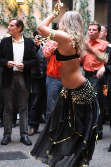 Belly dancer Gone Crackers launch