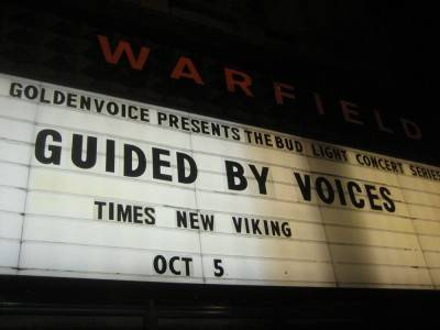 Guided by Voices 2010 West Coast tour San Francisco