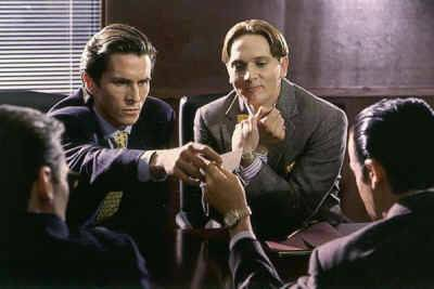 American psycho a look back at the bret easton ellis novel scene from the 2000 movie american psycho with christian bale colourmoves