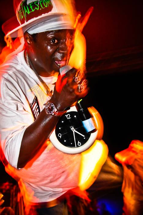 Flavor Flav with Public Enemy at the Garrick Theatre, Winnipeg, May 21 2010. Ailsa Dyson photo