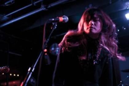 Yuki Chikudate with Asobi Seksu at the Biltmore Cabaret, Vancouver, March 5 2011. Ashley Tanasiychuk photo