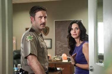 David Arquette and Courtney Cox in Scream 4