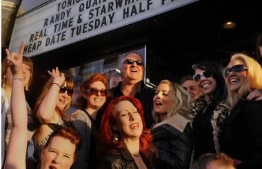 Randy Quaid outside the Rio Theatre, Vancouver, April 22 2011. Les Bazso/PNG photo
