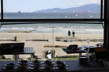 View from the Boathouse, April 2 2011, part of the Vancouver Playhouse International Wine Festival.