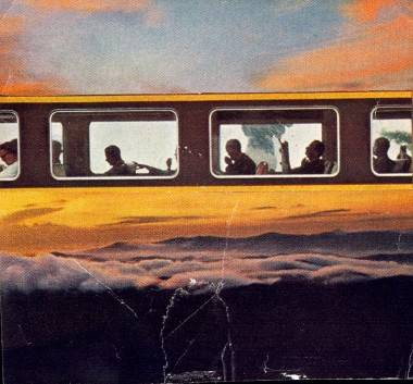 Invisible Train to Earth, collage by Robert Pollard.