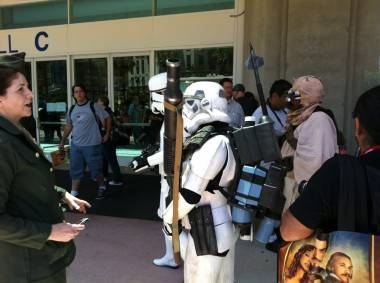 Stormtroopers at San Diego Comic-Con July 23 2011.