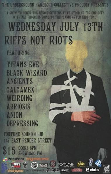 Riffs Not Riots promo poster