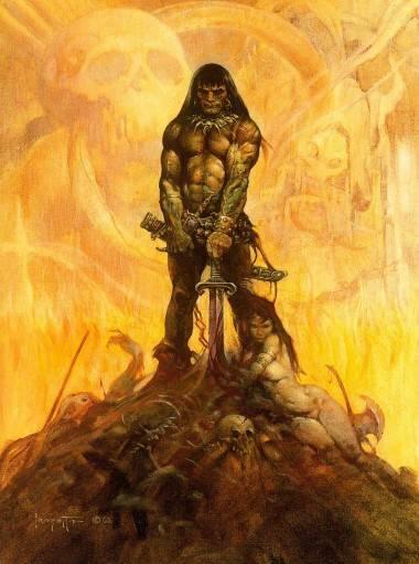 Frank Frazetta Conan the Adventurer painting